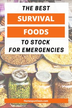5 Survival Foods to Eat in Everyday Life | List of long-term storage and prepping survival foods you should be eating in everyday life -- that aren't canned food. Prepping, survival and prepping, preparedness, emergency prepareness, prepper ideas #SurvivalGearList Best Survival Food, Emergency Preparedness Food, Prepper Food, Emergency Food Storage, Emergency Food Supply, Survival Prepping, Survival Gear, Survival Skills, Survival Shelter