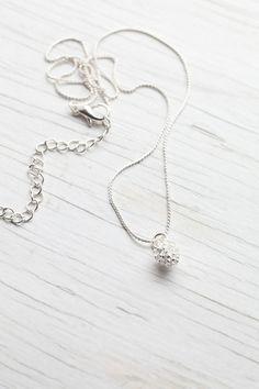 Sterling silver Pine Cone pendant
