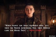 "What Maisie Williams Really Thought About Her Epic ""Game Of Thrones"" Opening Scene Arya Stark. I keep hoping she's going to kill SansaArya Stark. I keep hoping she's going to kill Sansa Game Of Thrones Facts, Game Of Thrones Quotes, Game Of Thrones Funny, Game Of Thrones Arya, Maisie Williams, Arya Stark, The North Remembers, Jon Snow, Game Of Throne Lustig"