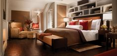 penthouse bedroom from the luxury Corinthia hotel in London