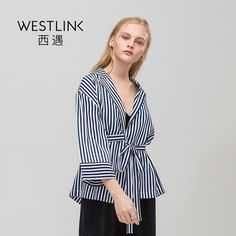 Bandage Stripe Turn-down Collar Loose Long Sleeve Casual Women Shirts Tops Dark Blue | $ 0.00 | Item is FREE Shipping Worldwide! | Damialeon | Check out our website www.damialeon.com for the latest SS17 collections at the lowest prices than the high street | FREE Shipping Worldwide for all items! | Buy one here http://www.damialeon.com/westlink-2017-spring-new-bandage-stripe-turn-down-collar-loose-long-sleeve-casual-women-shirts-tops-dark-blue/ |      #damialeon #latest #trending #fashion…