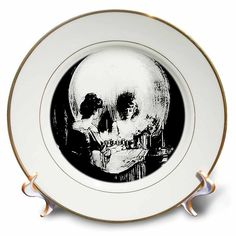 3dRose cp_18238_1 Halloween Optical Illusion Porcelain Plate, 8-Inch *** Check this awesome image  : Commemorative Plates