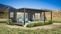 Modulhome | Casas modulares | Montaje en 48 horas Container Home Designs, Building A Container Home, Container House Plans, Shed To Tiny House, My House, Casas Containers, Backyard Studio, Simple House Design, Cottage Plan