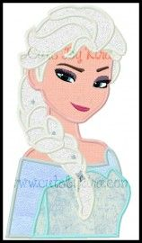 Frozen Queen Bust 2 Applique Embroidery Design