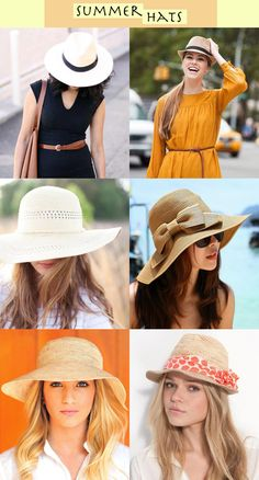 Yes please! Summer hats are back! Yay! #summer #fashion #hats