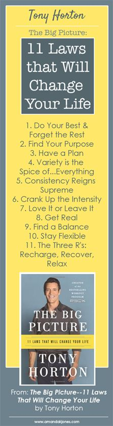 Tony Horton's 11 Laws of Success