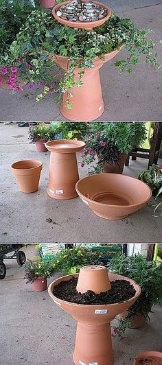 Selecting Plants for Container Gardening Occasionally, landscaping your home can be difficult, but most of the time it appears harder than it actually is. Garden Yard Ideas, Garden Crafts, Garden Planters, Garden Projects, Garden Art, Backyard Ideas, Herb Garden, Container Plants, Container Gardening