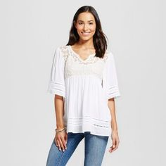 Women's Lace Top Cream  - Knox Rose™