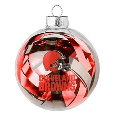 Cleveland Browns Large Tinsel Ball Ornament - $7.99