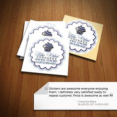 Thank you for this wonderful review BlueVelvet Cupcakes :)  #AllStickerPrinting #stickers #stickerprinting #glosspaperstickers #glossstickers #glossystickers #glossylabels #stickerny #usastickers