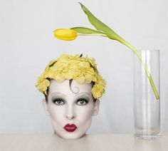 Flower Power: By Rafal Wroblewski, more artworks https://www.artlimited.net/27679 #Photography #People #Portrait #Female