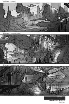 Halo 4 UNSC Studies, Michael Pedro on ArtStation at http://www.artstation.com/artwork/halo-4-unsc-studies