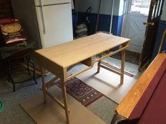 Rich grain before oil application Cherry Desk, Drafting Desk, Custom Design, Oil, Table, Furniture, Home Decor, Decoration Home, Room Decor