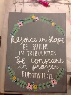 Hand painted scripture canvas on Etsy, $12.00