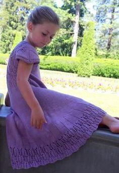 Pinnate Dress - Knitting Patterns by Meghan Jones  Sizes: 2T, 4T, & 6