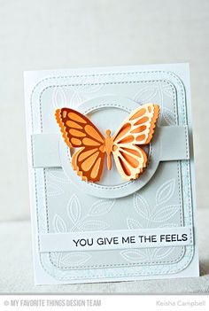 Blueprints 31 Die-namics, Funky Flowers Stamp Set, Essential Sentiments Stamp Set, Floral Fantasy Background, Flutter of Butterflies - Lace Die-namics, Flutter of Butterflies - Solid Die-namics - Keisha Campbell  #mftstamps