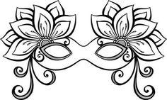 Ki ne ismerné a velencei maszkokat? Hamarosan következik a karneváli időszak és egy jelmezt, vagy egy maszk elkészítéséhez hosszabb idő és felkészültség kell. Adult Coloring Book Pages, Colouring Pages, Coloring Sheets, Coloring Books, Mardi Gras, Mask Drawing, Mask Template, Diy Face Mask, Art Techniques