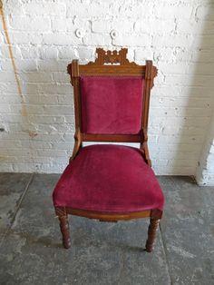 Burgundy Victorian Chair