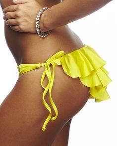 0d5a952288 Nicolita Designer Bikinis - Rumba Ruffles Spaghetti Bikini Bottom Hot Bikini,  Bikini Bottoms, Designer