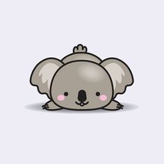 How to draw a koala (cartoon) video & step-by-step pictures Cute Animal Drawings, Kawaii Drawings, Cute Drawings, Koala Tattoo, Koala Illustration, Image Deco, Bear Drawing, Baby Koala, Animal Illustrations