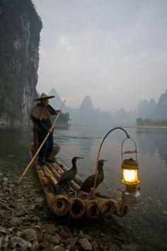 Chinese fisherman, Yangshou, China