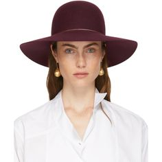Shop from luxury labels, emerging designers and streetwear brands for both men and women. Lanvin, Love Hat, Felt Hat, Luxury Fashion, Womens Fashion, Streetwear Brands, Street Wear, Burgundy, My Style
