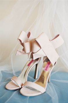 Strappy blush Betysy Johnson shoes: http://www.stylemepretty.com/2016/02/22/ballerina-chic-from-top-knot-to-toes/