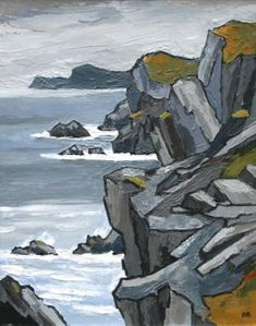 David Barnes -Towards South Stack Amazing Paintings, Small Paintings, Art Pictures, Art Images, Landscape Art, Landscape Paintings, Kyffin Williams, Oil Pastel Art, English Artists