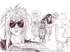 Suspicious by RohanElf on DeviantArt David Bowie Labyrinth, Labyrinth 1986, Sarah And Jareth, Frozen Anime, Freezing Anime, 1980s Films, Christina Rossetti, Original Memes, Goblin King
