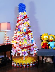 When your tree skirt is made up of Duff cans, you know it's going to be a very Merry Christmas! #PopCulture #Simpsons #Christmas