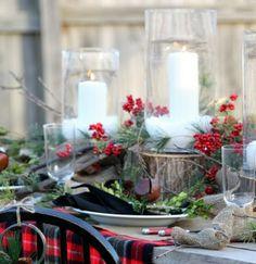 charmante Weihnachtsdeko Kerzen-Garten