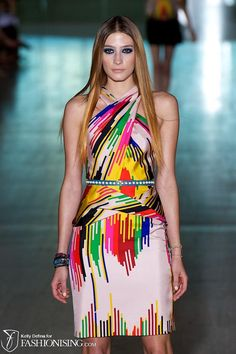 Lisa Ho's collection at Australian fashion week ~ eclectic mix of colors and silhouettes