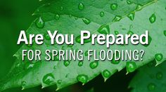 Are you prepared for spring flooding?  Spring weather patterns can increase the risk of flooding. Flood insurance will help you recover from spring flooding, which can be caused by heavy rains, rapid snowmelt, and ice jams. Get the facts, know the risks, and take action to prepare before a severe weather strikes. Typically, there is a 30-day waiting period on new flood insurance policies, so the time to act is now.  #FloodInsurance