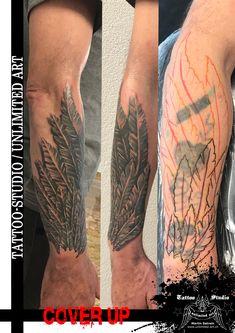 Tattoo Überarbeitung mit Engelsflügel / Engelsflügel Tattoo // CoverUp Tattoo / Angel Wings Tattoo