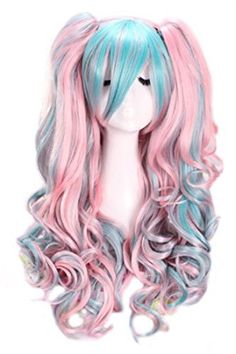 Whether attending Comic Con, a cosplay convention or dressing up for Halloween.anime wigs can be one of the most important parts of your ensemble to help you achieve the perfect, convincing look you are striving for. Blonde Cosplay Wig, Cosplay Hair, Anime Cosplay, Wavy Ponytail, Clip In Ponytail, Hair Up Styles, Wig Styles, Curly Wigs, Long Curly Hair