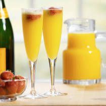 Basic Mimosa Recipe, these are so easy to make and tasty. We will definitely have to sip on some of these while we're getting ready for the wedding to begin. We could make them with pineapple or mango orange juice too make them a little bit more sweet.