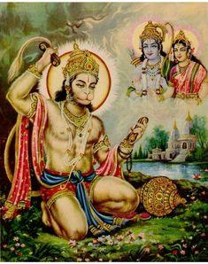 Ram Bhakta Hanuman  Bajarang Bali Shiva Hindu, Hindu Deities, Hindu Art, Hanuman Pics, Hanuman Chalisa, Radha Krishna Pictures, Krishna Art, Indiana, Lord Rama Images
