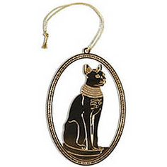 Bastet Gold Plated Field Museum Ornament $14