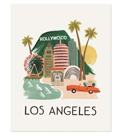 Los Angeles Print | Love this!  @Heather Creswell Kirk Riley | Kirk Riley Design