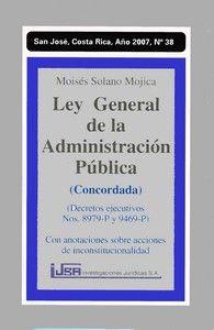 Ley general de la administración pública abril 2010