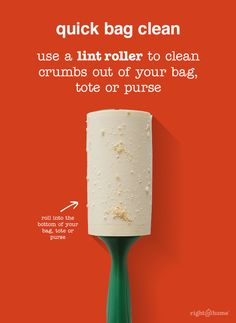 TIP: Throw a lint roller in your purse to clean up crumbs on the go.