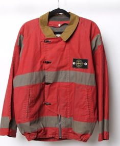 "1982 Stone Island fireman jacket From first year of Stone Islands conception ""like a supreme piece from Has CP company tags (SI parent company) Size. Stone Island Gilet, Funny Outfits, Cool Jackets, Vest Jacket, Motorcycle Jacket, Vintage Outfits, Street Wear, Mens Fashion, My Style"