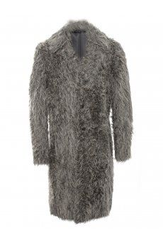 Faux Fur Long Coat Arctic Grey from the Yohji Yamamoto Autumn/Winter 2013