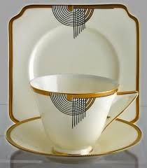 Image result for AH triangle logo maker's mark cup saucer blueberry gold pattern
