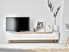 Mikkel stand rove kure scandinavian design gadgets in 20 Modern Tv Units, Modern Tv Wall, Tv Stand Decor, Diy Tv Stand, Scandinavian Living, Scandinavian Design, Tv Furniture, Furniture Design, Nordic Furniture