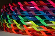 TrinityStarr SPECTRUM  Rainbow Hula Hoops  by TrinityStarr on Etsy