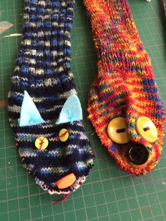 Sock puppets by Maggie Muth