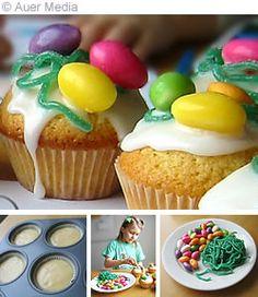 Leivonta - Muffinssit - Pääsiäinen - Pääsiäismuffinssit