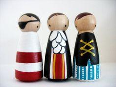 wood peg girl #pirate #dolls