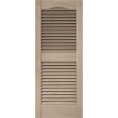 Builders Edge 15 in. x 36 in. Louvered Vinyl Exterior Shutters Pair in #023 Wicker, 023 Wicker